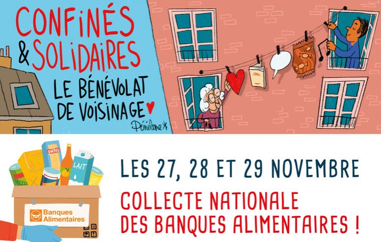 Collecte alimentaire Croix Rouge FR/Banques Alimentaires