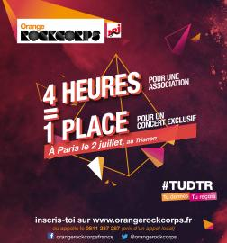 Affiche Orange RockCorps
