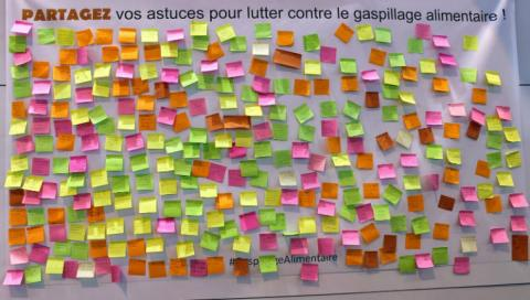 Le mur des initiatives anti-gaspillage alimentaire